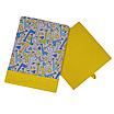 Скринька для зберігання, 25*25*30 см, (бавовна), з відворотом (жирафчики/горох на жовтому), фото 3