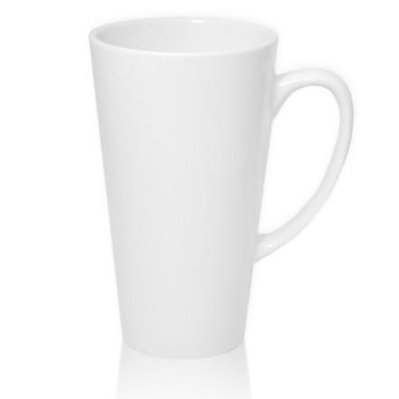 Чашка белая для сублимации Латте большая