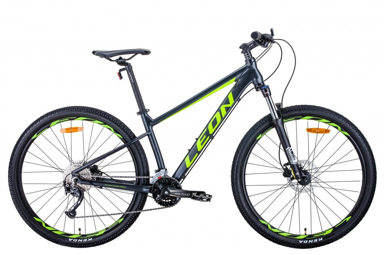 """Велосипед 27.5"""" Leon XC-70 2020 (антрацитово-желтый с черным (м))"""