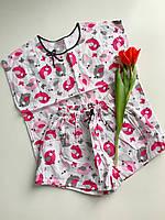 Піжама, одяг для дому та сну Funny Birds| Пижама Натуральная, одежда для дома и сна S M L XL