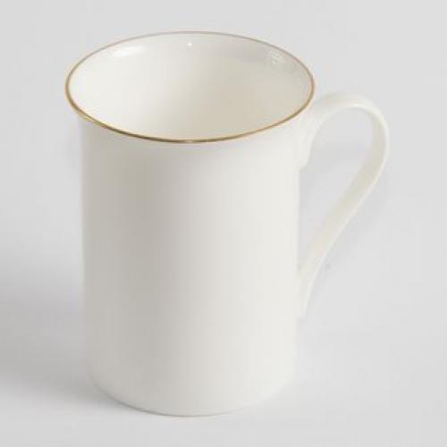 Чашка белая для сублимации Тюльпан