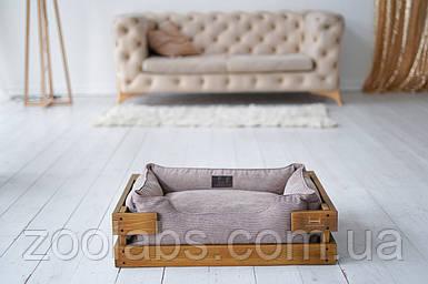 Лежак для собаки с деревянным каркасом Dream Nature + Cacao Velvet