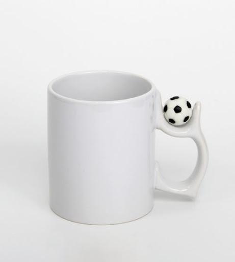 Кружка белая для сублимации 330 мл с футбольным мячом