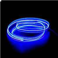 Синяя Холодный неон, Неоновая лента, длинна 5 м. Декоративная подсветка, украшение интерьера. 3В,5В,12В