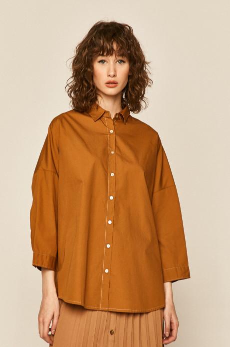 Свободная рубашка с классическим воротником