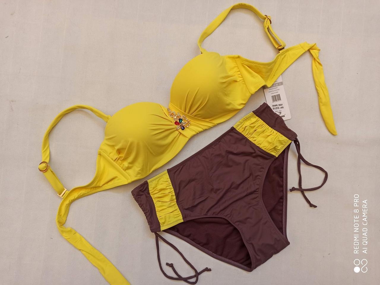 4Купальник SISIANNA 39201 Зита желтый (есть 48 размеры)