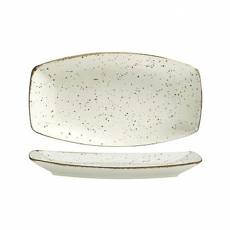 "Фарфоровая тарелка прямоугольная под мрамор Kutahya Porselen ""Corendon"" 270х160 мм (CR3427)"
