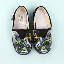 Детские текстильные туфли тапочки Еспадрильи мото черные тм Waldi размер 27,28,30, фото 3
