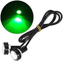 Точечные дневные ходовые огни DRL-01 3W 200LM 6000K 23mm орлиный глаз Зеленый