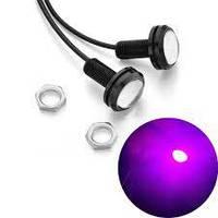 Точечные дневные ходовые огни DRL-01 3W 200LM 6000K 23mm орлиный глаз Фиолетовый