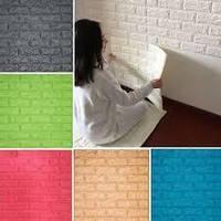 Самоклеющиеся 3D панели кирпич (декоративные обои) Sticker Wall 700x770x7мм. Моющиеся, Серцифицированные