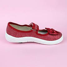 Детские текстильные туфли тапочки Алина золотой бант размер 29 тм Waldi, фото 3