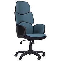 Офисное кресло Starship Black стальной синий, коллекция Urban, TM AMF