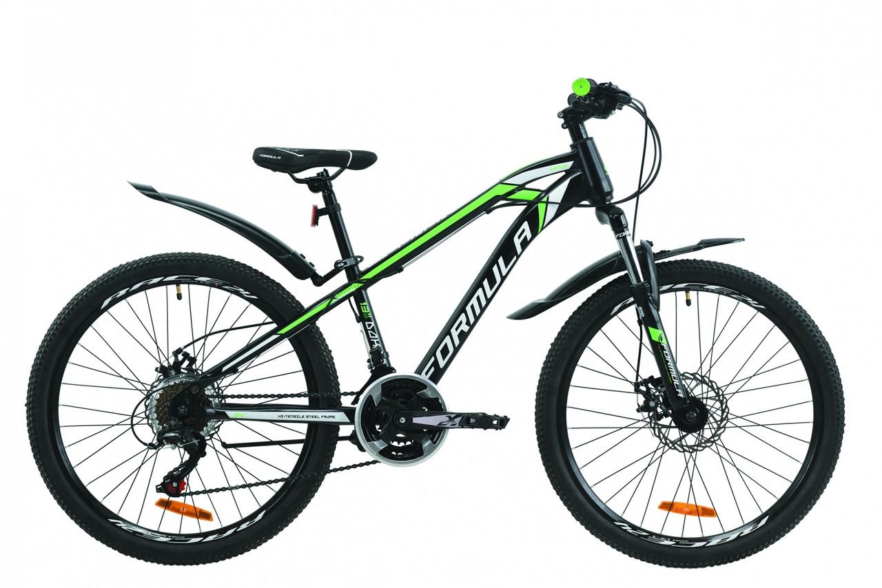 """Велосипед 24"""" Formula DAKAR 2020 (черно-зеленый (м))"""