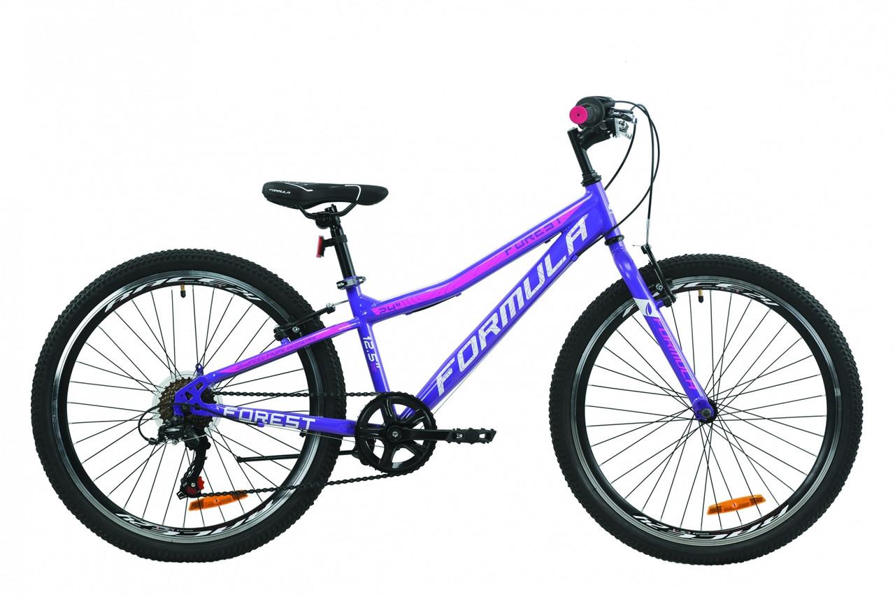 """Велосипед 24"""" Formula FOREST 2020 (фиолетово-белый с малиновым)"""