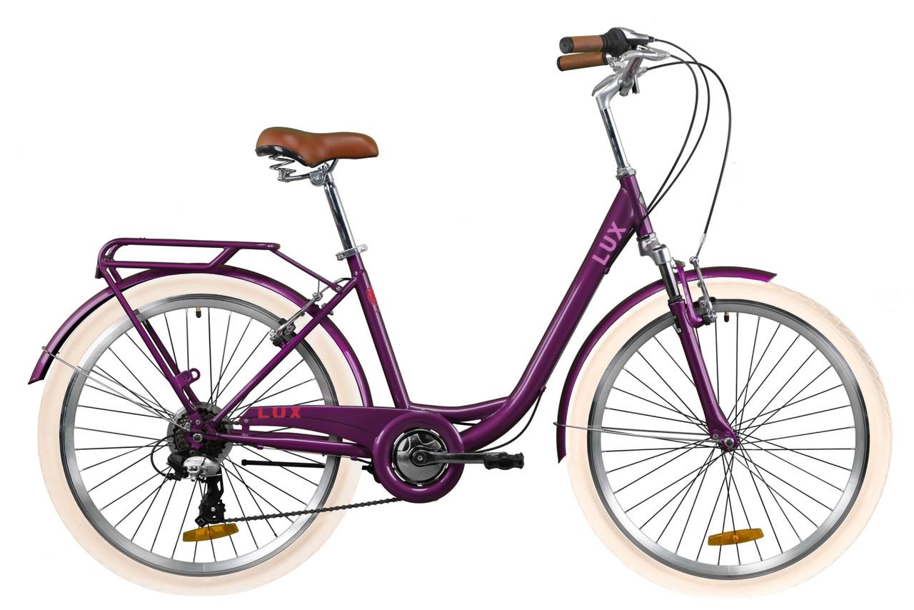 """Велосипед 26"""" Dorozhnik LUX AM 2020 (сливовый (м))"""
