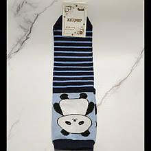 Шкарпетки жіночі Панда в синю смужку розмір 35-40