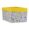 Ящик (коробка) для хранения, 25 * 35 * 20см, (хлопок), с отворотом (Жирафчики / горох на желтом), фото 2