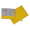 Ящик (коробка) для хранения, 25 * 35 * 20см, (хлопок), с отворотом (Жирафчики / горох на желтом), фото 3