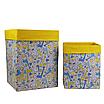 Ящик (коробка) для хранения, 25 * 35 * 20см, (хлопок), с отворотом (Жирафчики / горох на желтом), фото 4