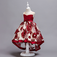 Плаття святкове дитяче бордове Моніка платье нарядное праздничное
