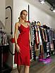 Шикарное шелковое платье комбинация миди на бретелях в бельевом стиле красное, фото 8