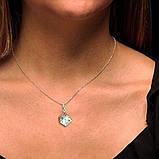 Крупный кулон - камень в серебряном кубе Selenit 34111, фото 3