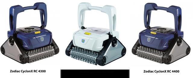 внешний вид пылесосов CyclonX RC 4300, CyclonX RC 43070 иCyclonX RC 4400
