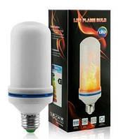 Лампа LED Flame Bulb А+ з ефектом полум'я вогню, E27
