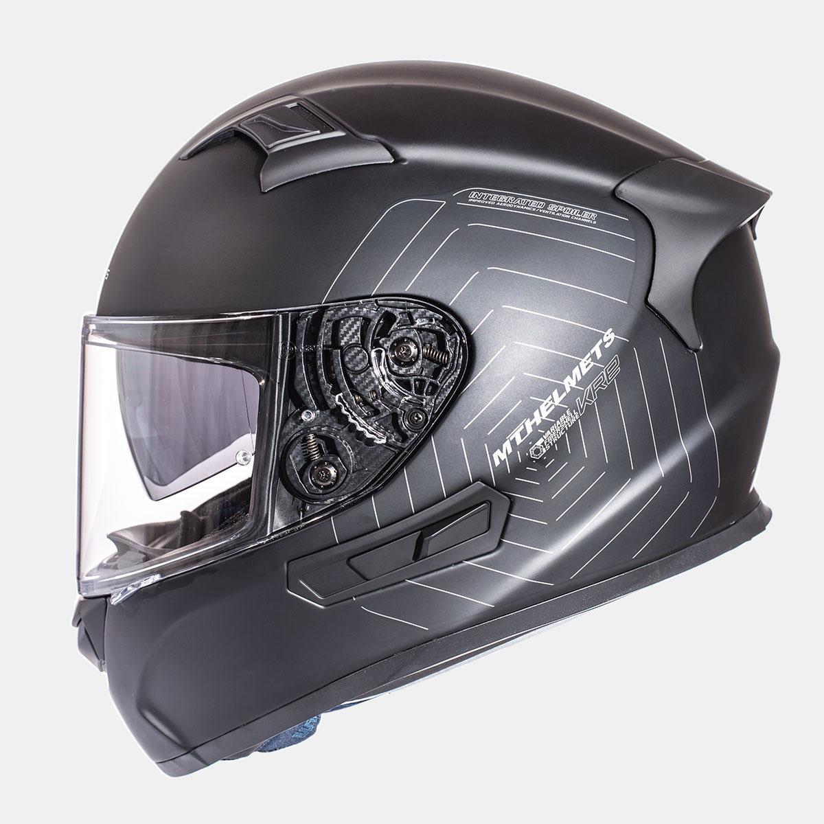 Мотошлем MT KRE SV Solid Gloss Black