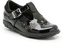 Туфли детские кожаные лаковые черные балетки Clarks (размер 18, UK3½, EU19)