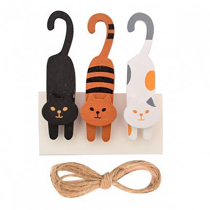 """Прищепка """"Santi"""" деревянная декоративная """"Cat games"""", 1шт, 8см 742502, фото 2"""
