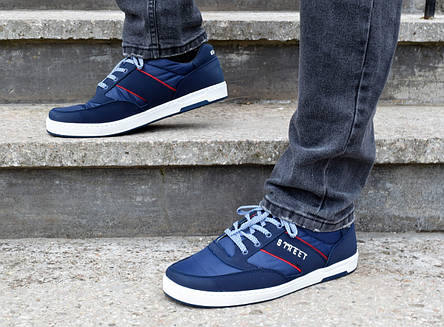 Кросівки чоловічі на весну сині 43 розмір, фото 2