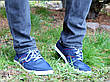 Кросівки кеди чоловічі сині відмінної якості 40, 41 і 45 розмір, фото 5