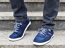 Кросівки кеди чоловічі сині відмінної якості 40, 41 і 45 розмір, фото 2