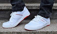 Кросівки кеди чоловічі білі відмінної якості, фото 3