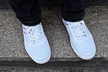 Кросівки кеди чоловічі білі відмінної якості, фото 2
