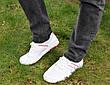 Кросівки кеди чоловічі білі відмінної якості, фото 6