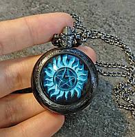 Карманные часы защитная пентаграмма  Сверхъестественное / Supernatural