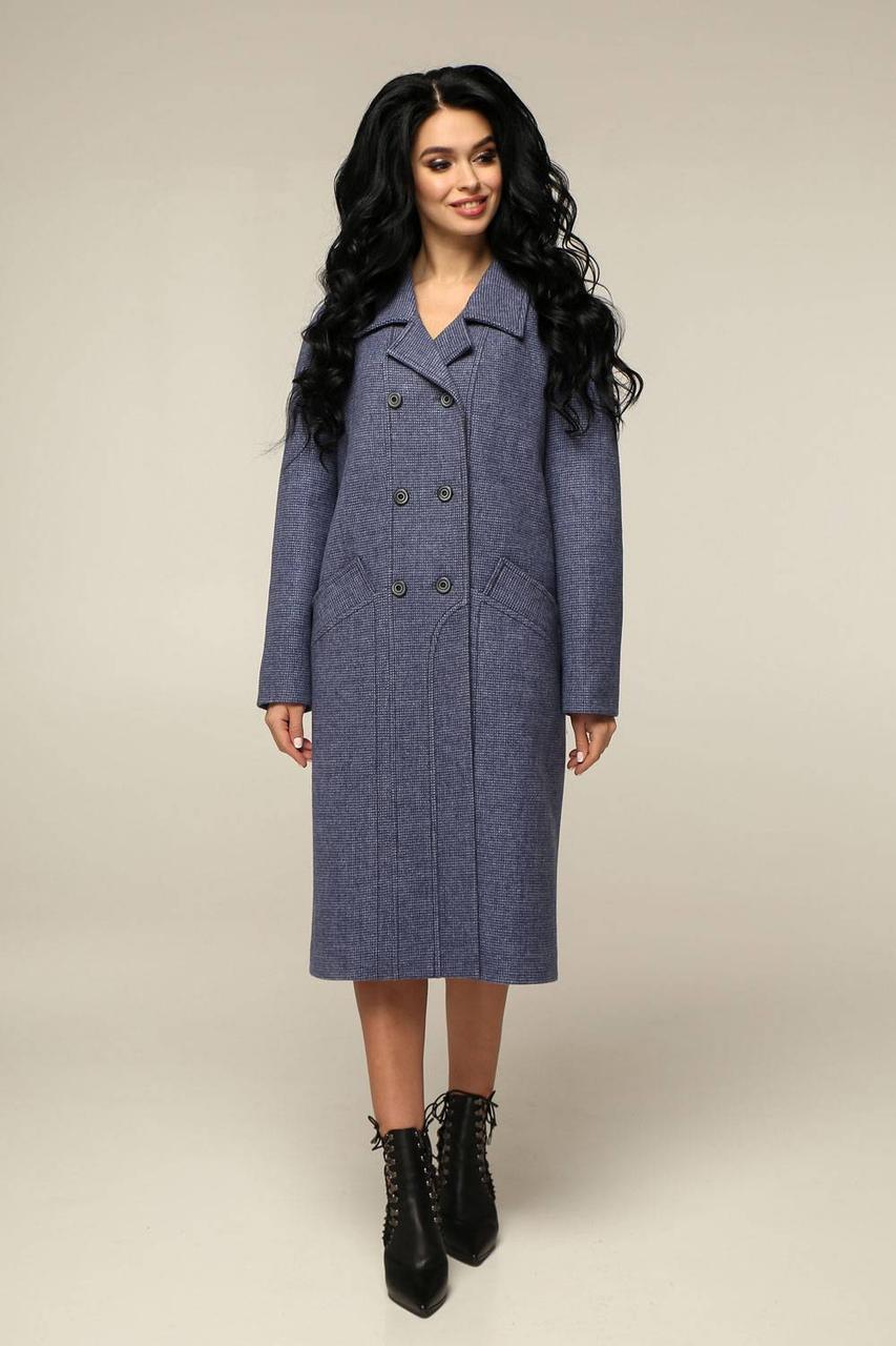 Пальто женское демисезонное, выполненное из пальтовой ткани прямого силуэта Разные цвета