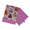 Скринька для зберігання, 25*25*30 см, (бавовна), з відворотом (казкові сови рожеві/рожевий), фото 3