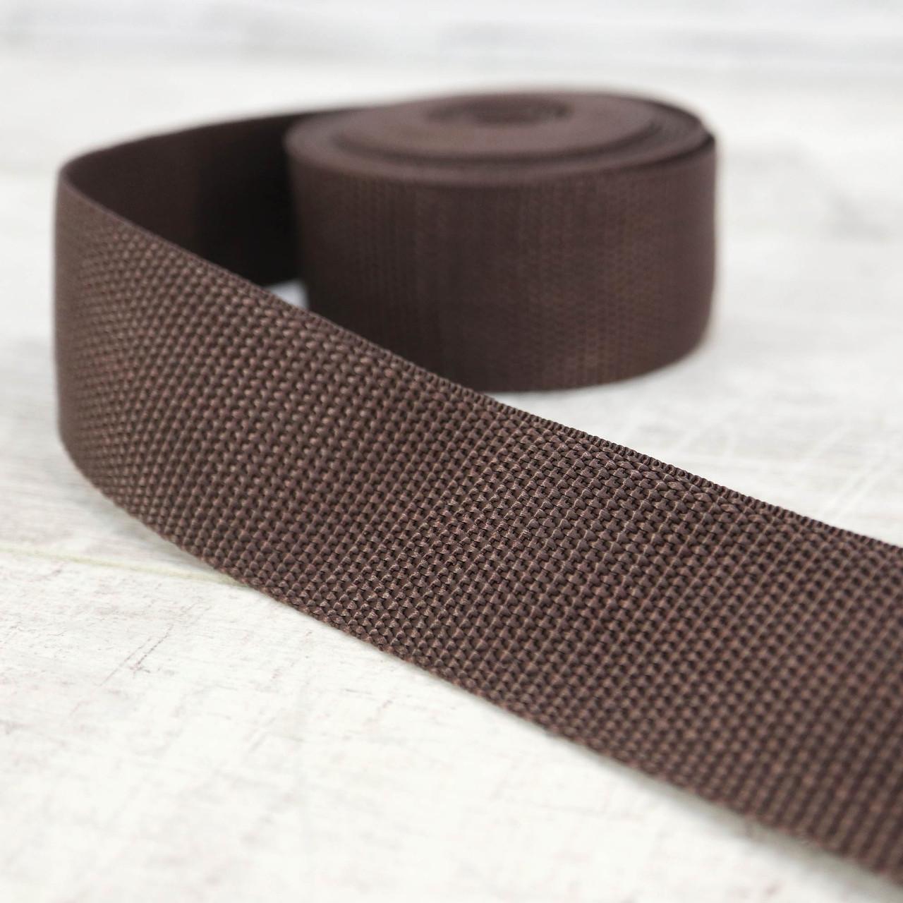 Ременная лента 36 мм коричневая полипропилен для сумок a4059 (15 м.)