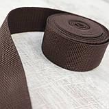Ременная лента 36 мм коричневая полипропилен для сумок a4059 (15 м.), фото 2