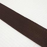 Ременная лента 36 мм коричневая полипропилен для сумок a4059 (15 м.), фото 3
