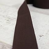 Ременная лента 36 мм коричневая полипропилен для сумок a4059 (15 м.), фото 4