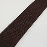 Ременная лента 36 мм коричневая полипропилен для сумок a4059 (15 м.), фото 5