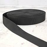 Ременная лента 30 мм репс черная для сумок a5332 (15 м.), фото 2