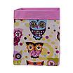 Скринька ( коробка ) для зберігання, 25*25*30 см, (бавовна), з відворотом (казкові сови рожеві/рожевий), фото 2