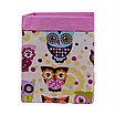 Скринька для зберігання, 25*25*30 см, (бавовна), з відворотом (казкові сови рожеві/рожевий), фото 2