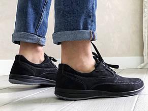 Мужские мокасины,спортивные туфли замшевые,черные Doge style, фото 2